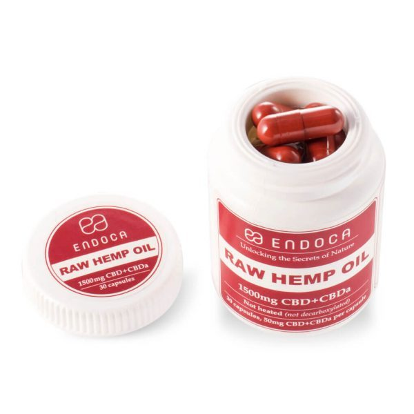 CBD capsules raw hemp
